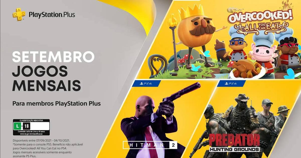 Jogos: PS Plus de setembro terá Hitman 2, Predator e Overcooked