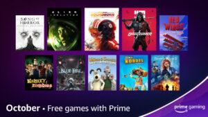 Prime Gaming de outubro anuncia jogos gratuitos e mais novidades