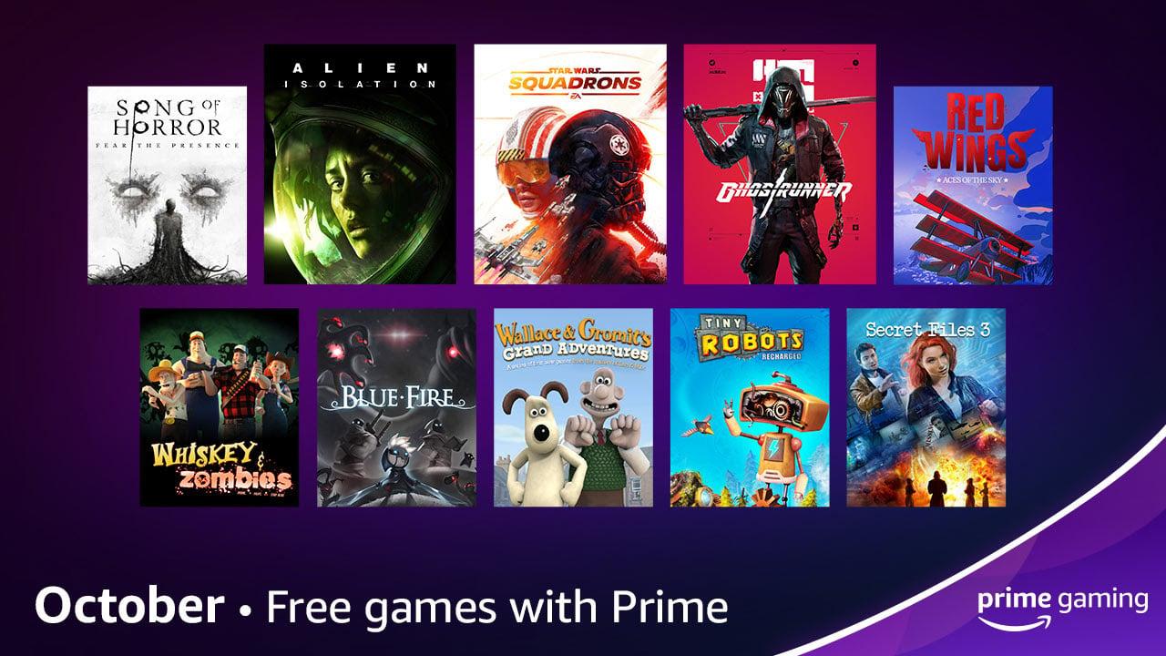 Jogos: Prime Gaming de outubro anuncia jogos gratuitos e mais novidades
